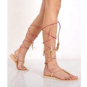 L*SPACE by Cocobelle Gili Wrap Sandals Size 7.5